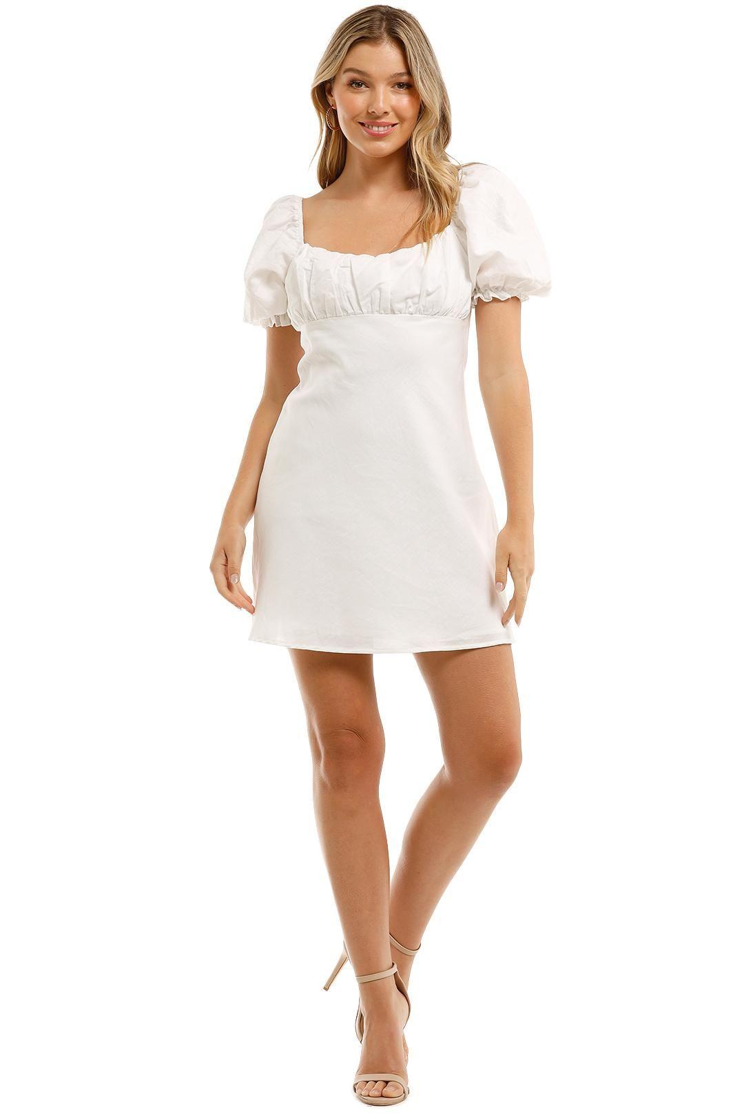 Charlie Holiday Lottie Mini Dress White