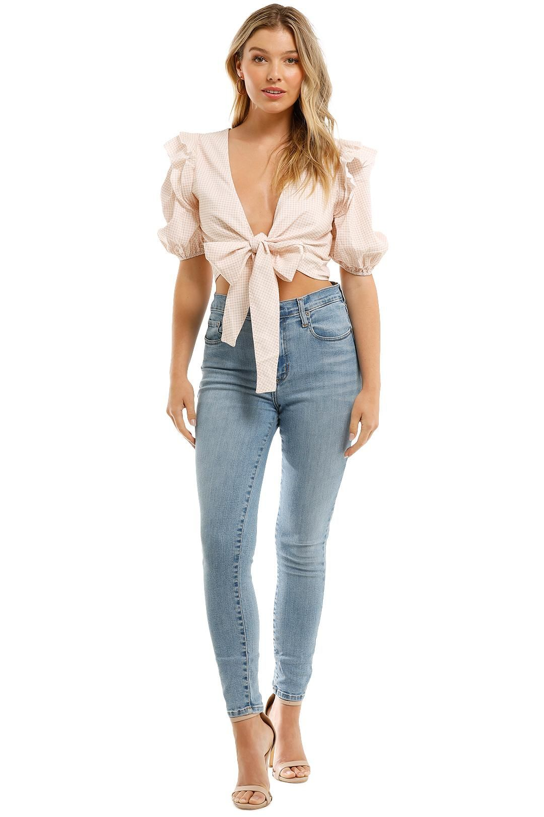 Charlie Holiday Louie Top Biscuit Gingham Tie Front