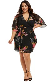 City-Chic-Beloved-Wrap-Dress-Black-Front
