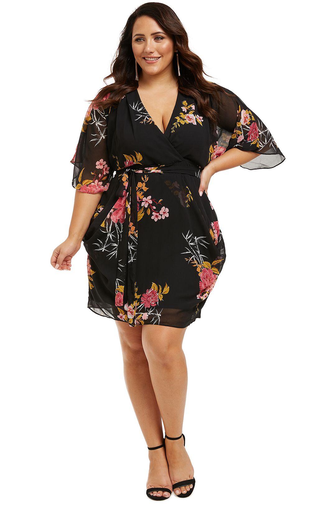 City-Chic-Beloved-Wrap-Dress-Black-Front