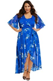 City-Chic-Blue-Floral-Maxi-Dress-Front