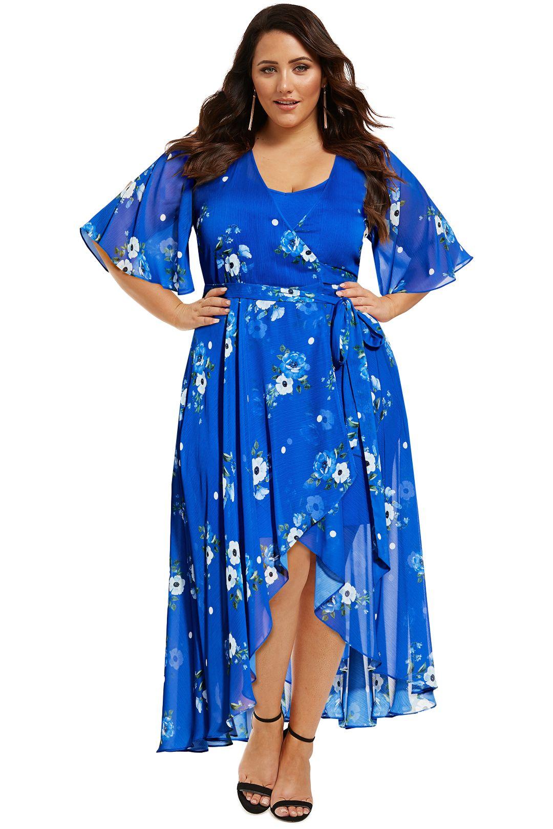 City-Chic-Blue-Floral-Maxi-Dress-Front