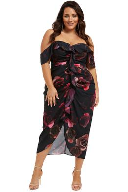 City-Chic-Decadent-Floral-Dress-Black-Front