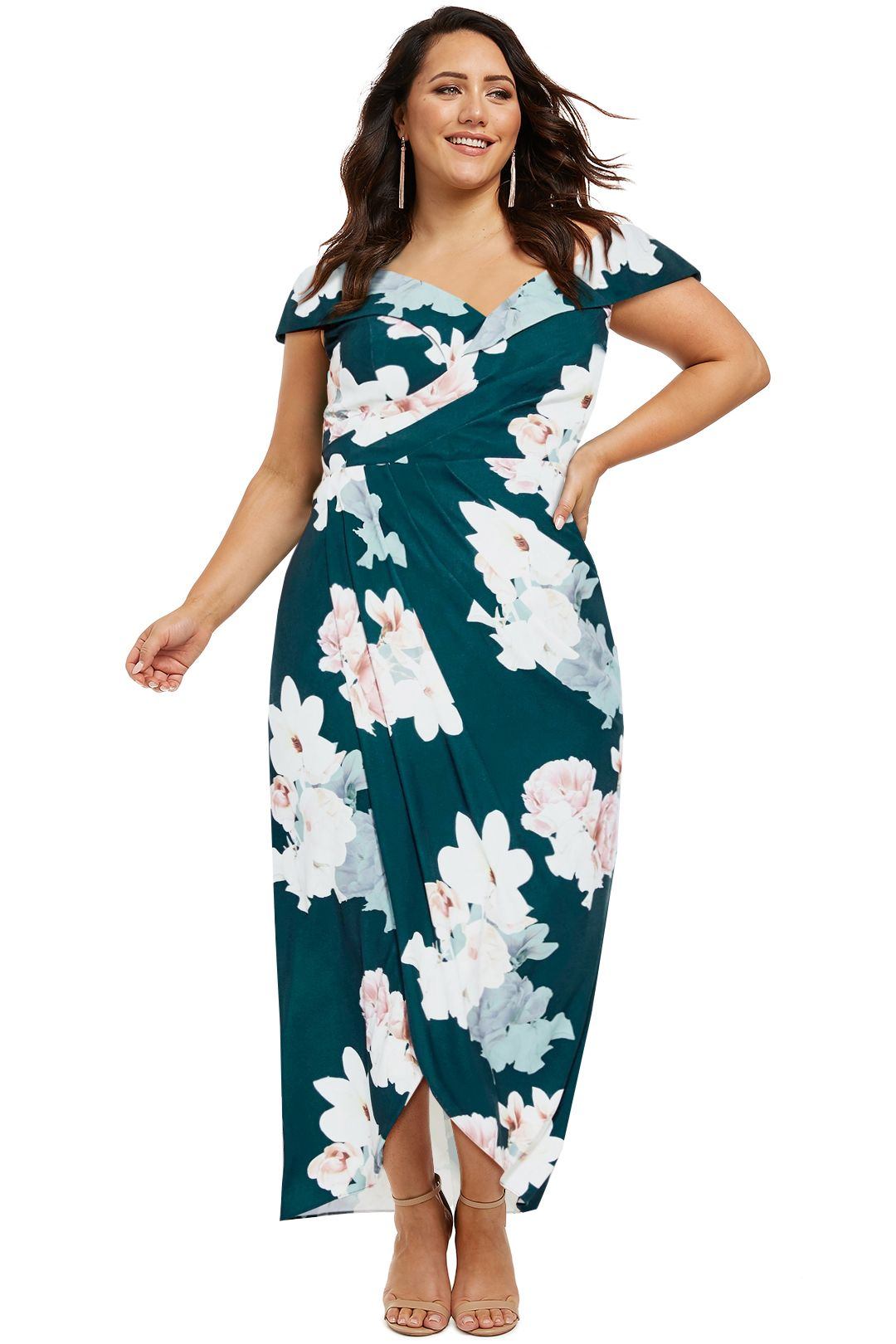 City-Chic-Emerald-Floral-Maxi-Dress-Front