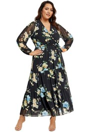 City-Chic-Fair-Floral-Maxi-Dress-Black-Front