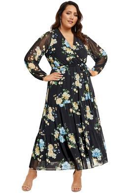 City-Chic-Fair-Floral-Maxi-Dress-Black-Front