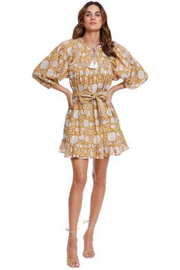 Cleobella Magdalena Mini Dress Honey Mix Print