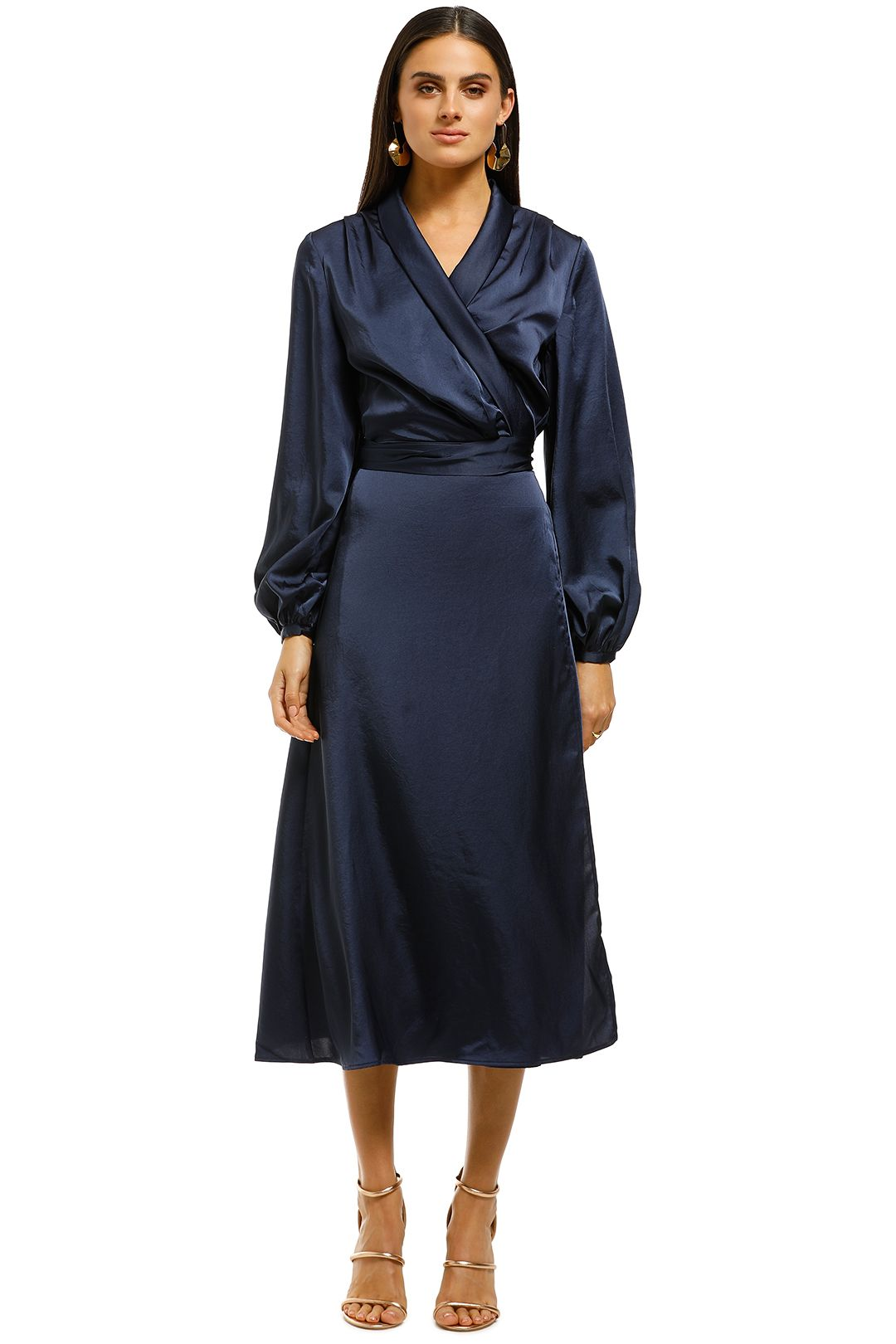 CMEO-Collective-Late-Thought-Midi-Dress-Navy-Front