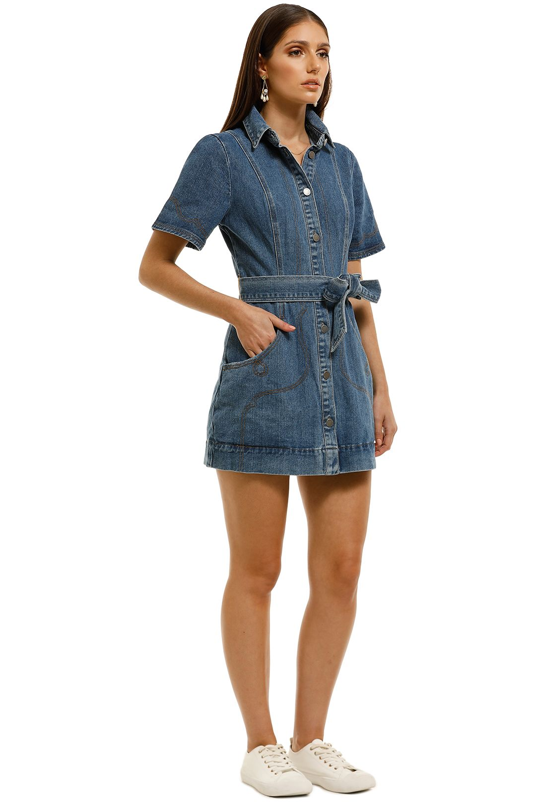 CMEO-Collective-Lifetime-Dress-Blue-Denim-Side