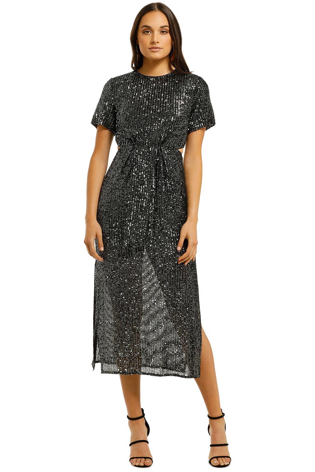 CMEO-Collective-Lustre-Midi-Dress-Black-Sequin-Front