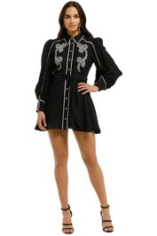 CMEO-Collective-Nearby-Mini-Dress-Black-Front