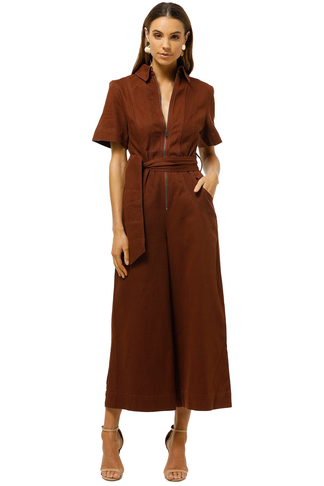 CMEO-Collective-Regardless-Jumpsuit-Mahogany-Front