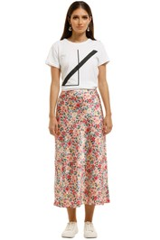 CMEO-Collective-Time-Flew-Skirt-Cream-Garden-Floral-Front