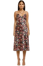 CMEO-Collective-Time-Flew-SS-Dress-Black-Garden-Floral-Front