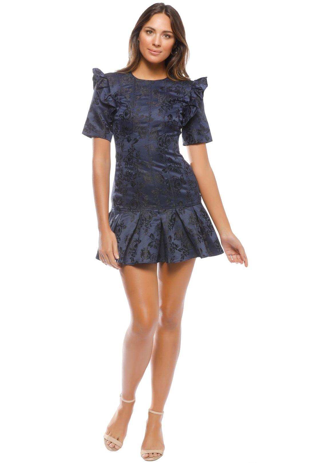 CMEO - Levity Mini Dress - Navy - Front