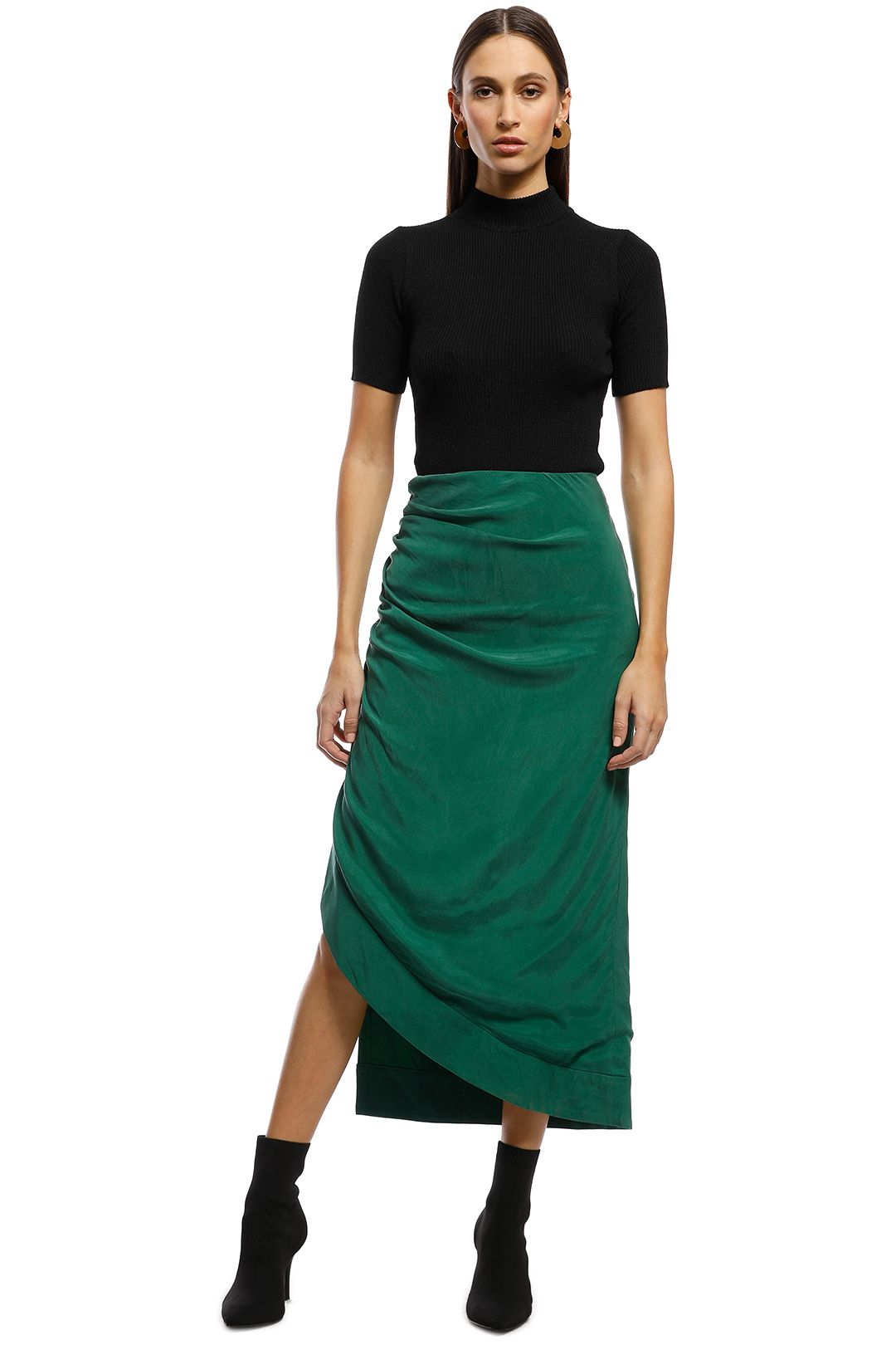 CMEO Collective - Ended Up Here Skirt - Green - Front