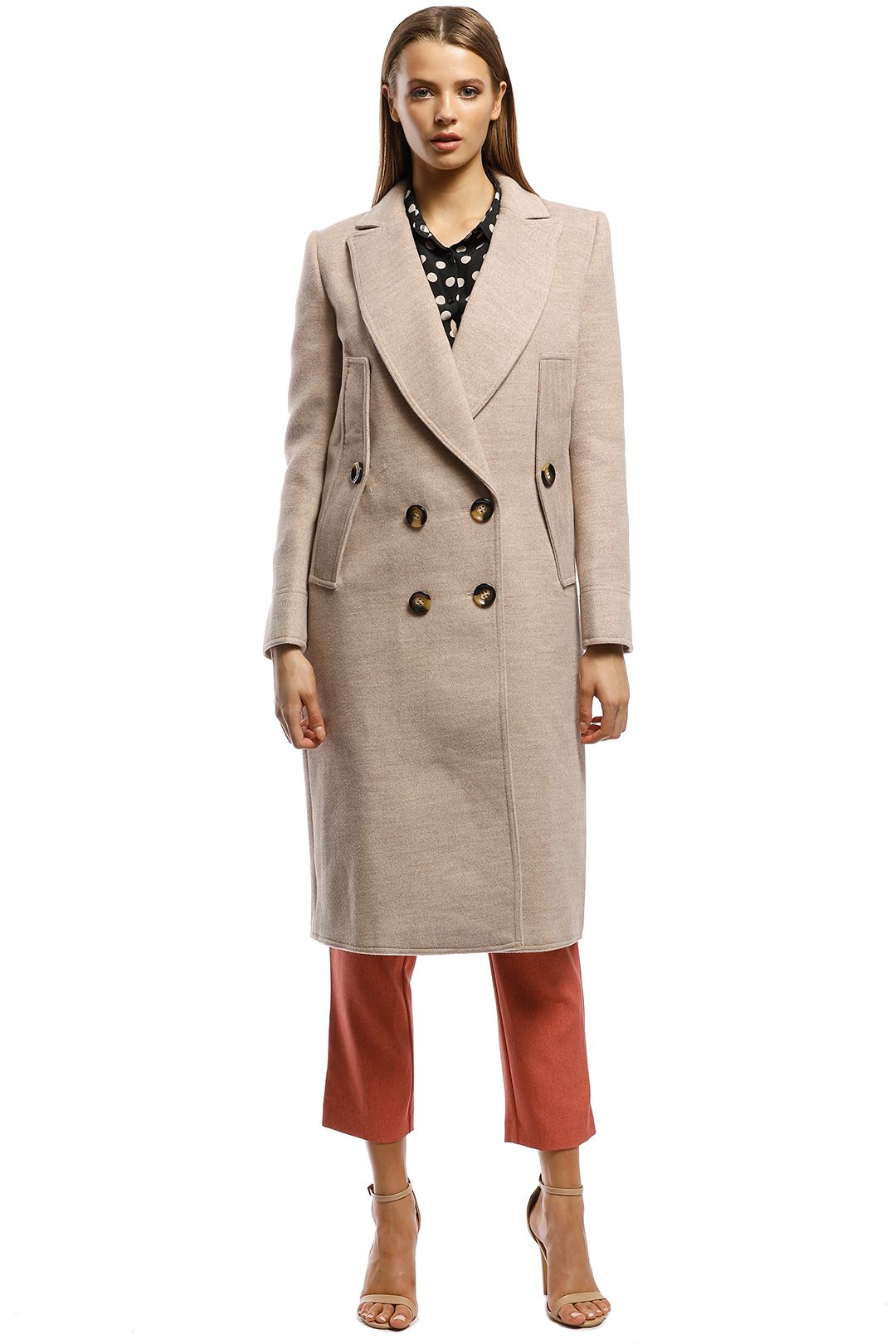 CMEO Collective - Held Up Coat - Brown - Front
