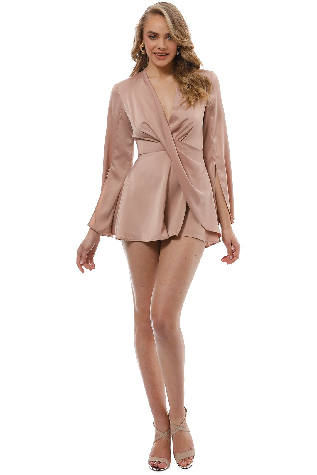 CMEO Collective - Influential Playsuit - Sand - Front