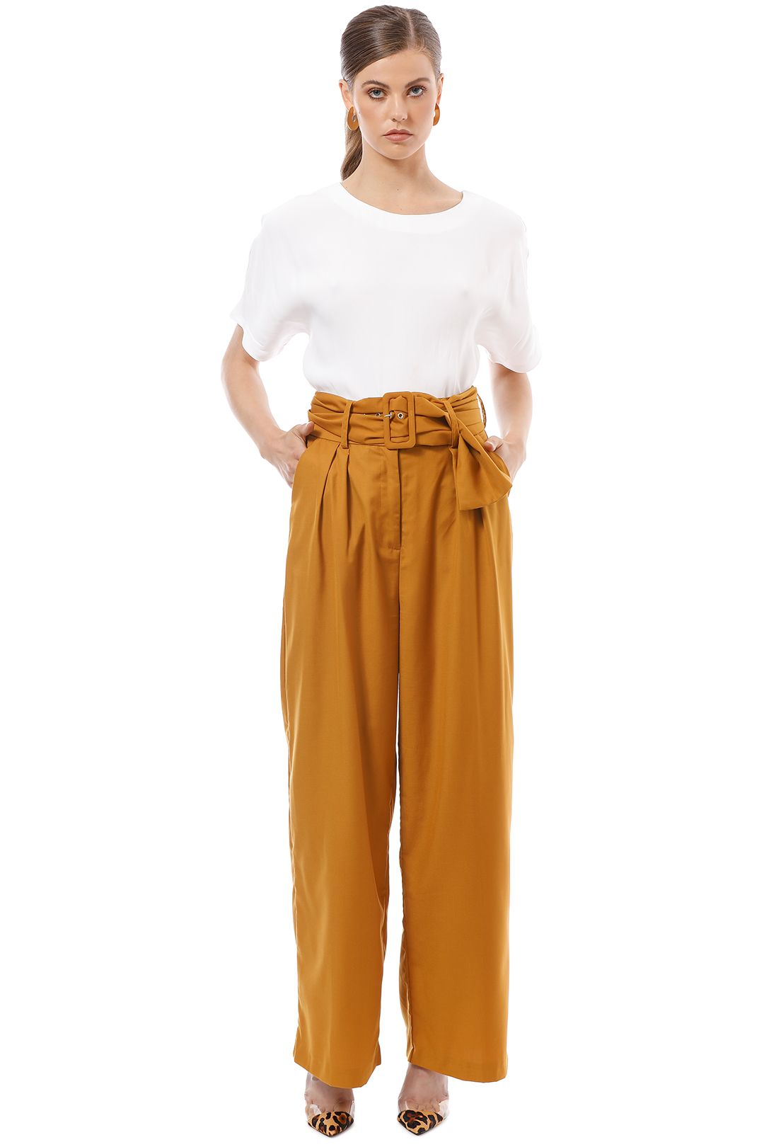 CMEO Collective - The Moments Pant - Yellow - Front