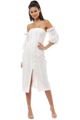 CMEO Collective - Think About Me Midi Dress - Ivory - Front