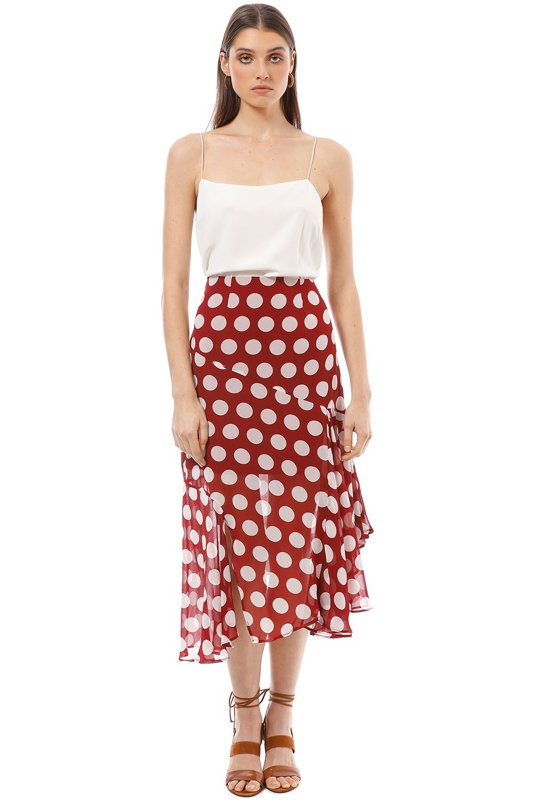 CMEO Collective - Unending Skirt - Red - Front