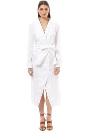 CMEO Collective - Your Type Shirt Dress - White - Front