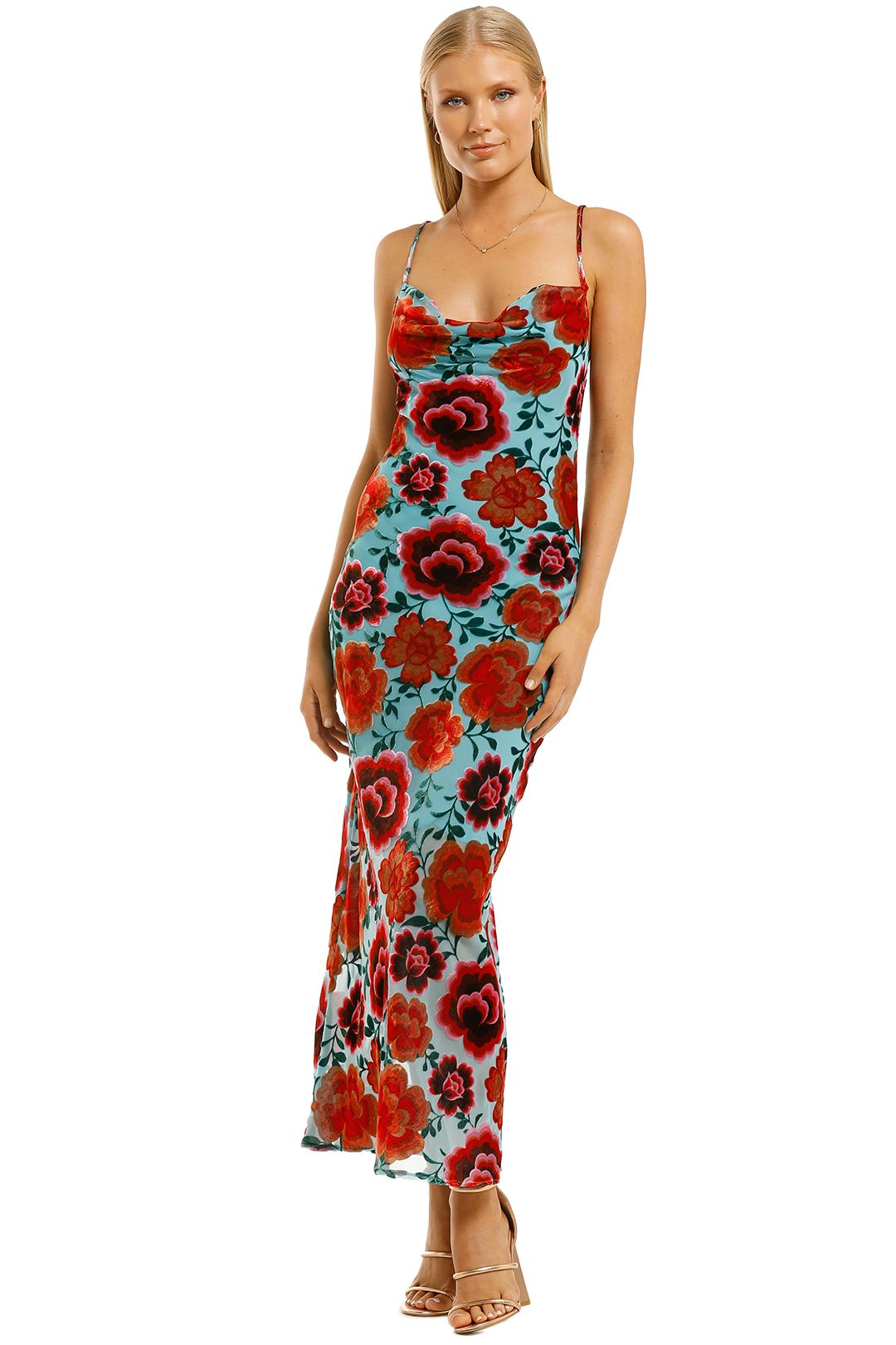 Coop-by-Trelise-Cooper-Days-Gone-Bias-Dress-Turquoise-Front