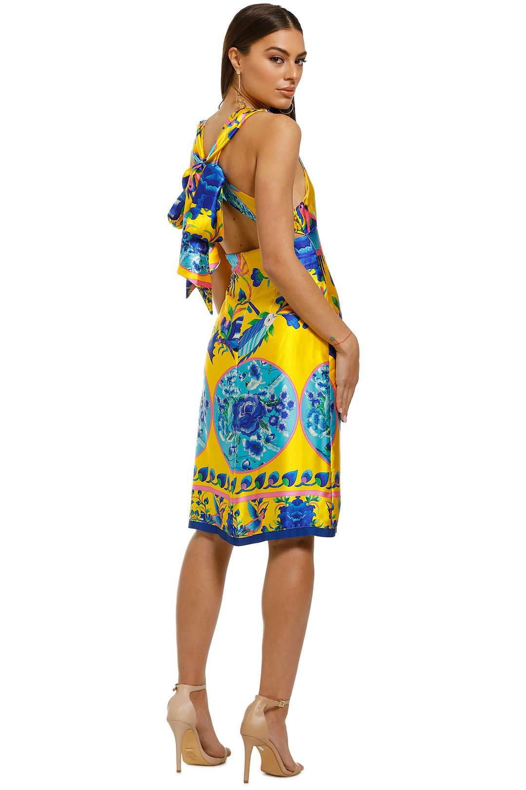 Cooper-by-Trelise-Cooper-Burning-Bright-Dress-Yellow-Print-Back