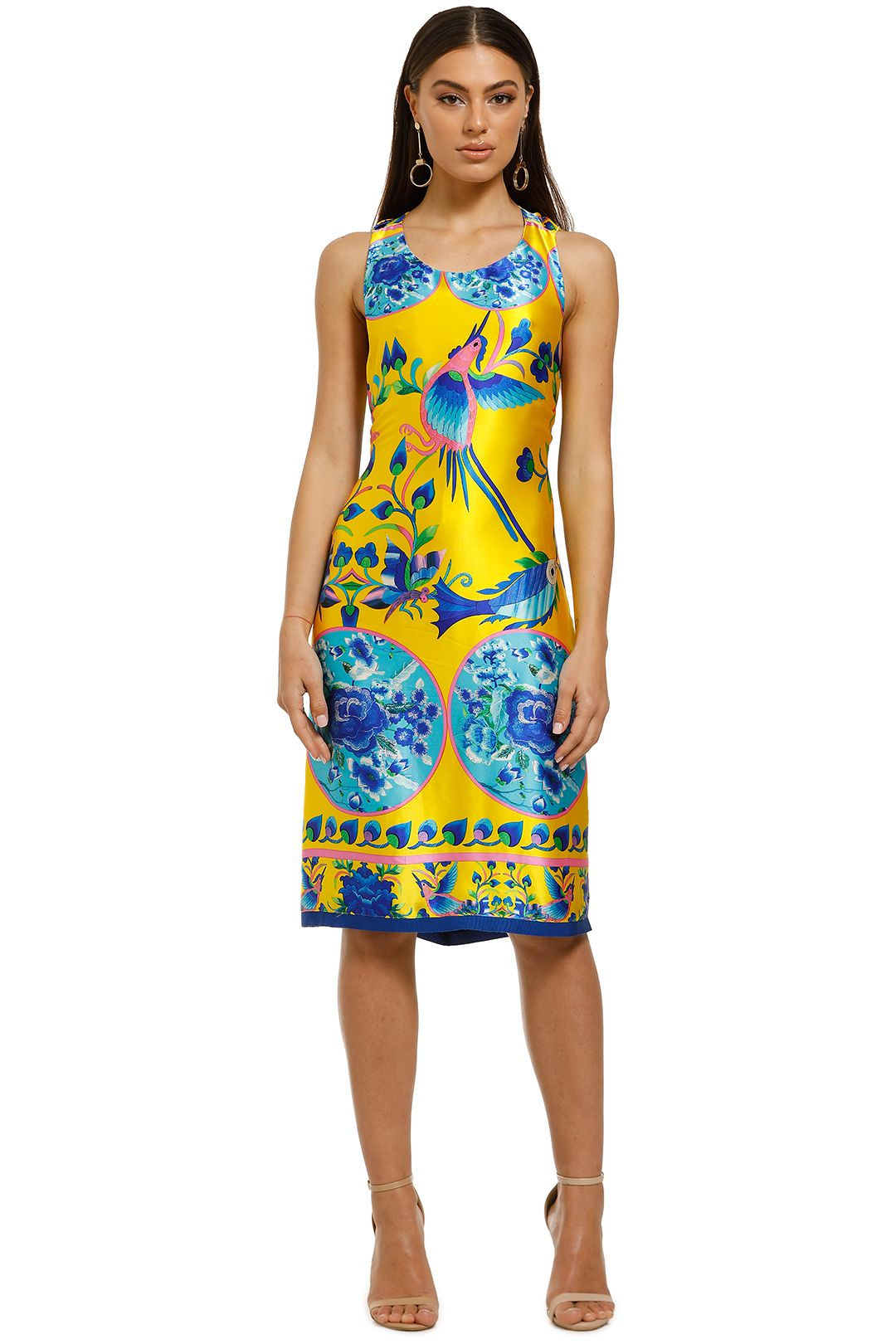 Cooper-by-Trelise-Cooper-Burning-Bright-Dress-Yellow-Print-Front
