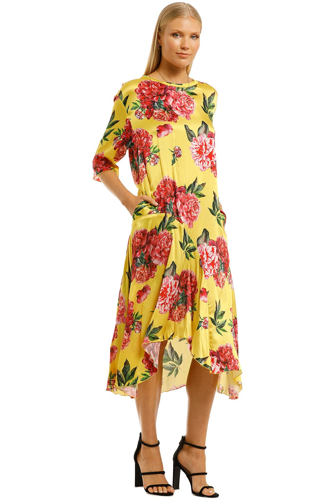 Cooper-By-Trelise-Cooper-Forever-Long-Dress-Yellow-Side