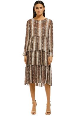 Cooper-By-Trelise-Cooper-Gathering-Together-Dress-Brown-Snake-Front