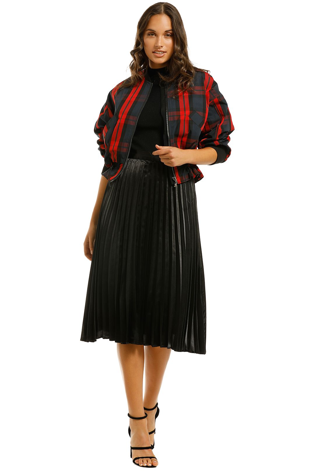 Cooper-By-Trelise-Cooper-Red-All-About-It-Jacket-Red-Navy-Check-Front