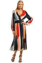 Cooper-St-Charlie-Pleated-Midi-Dress-Print-Light-Front