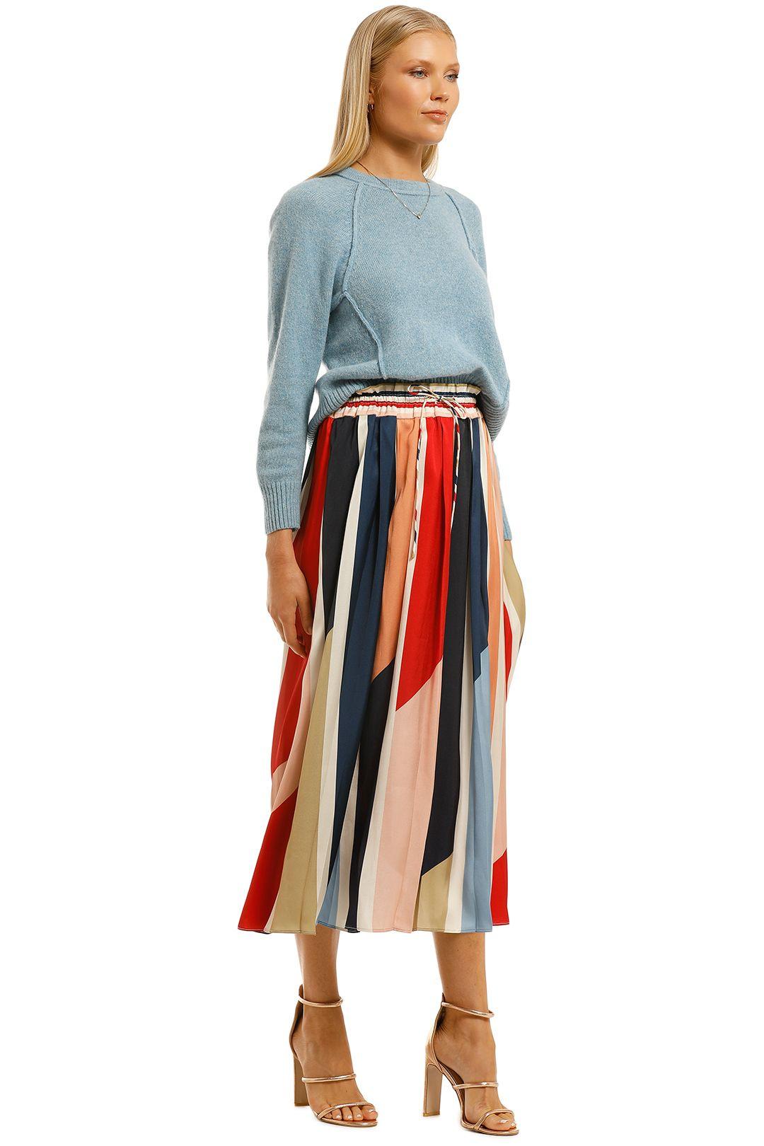 Cooper-St-Charlie-Pleated-Skirt-Print-Light-Side