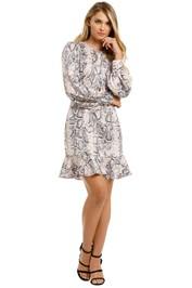 Cooper-St-Fleur-Mini-Dress-Snake-Print-Front
