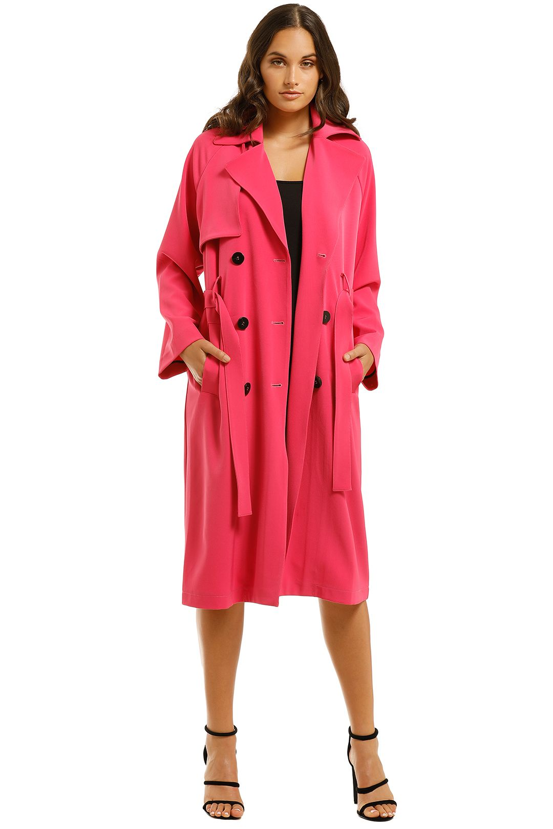 Cooper-St-Hyde-Trench-Coat-Fuchsia-Front