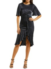 Cooper-St-Oasis-Twist-Detail-Frill-Dress-Ink-Front