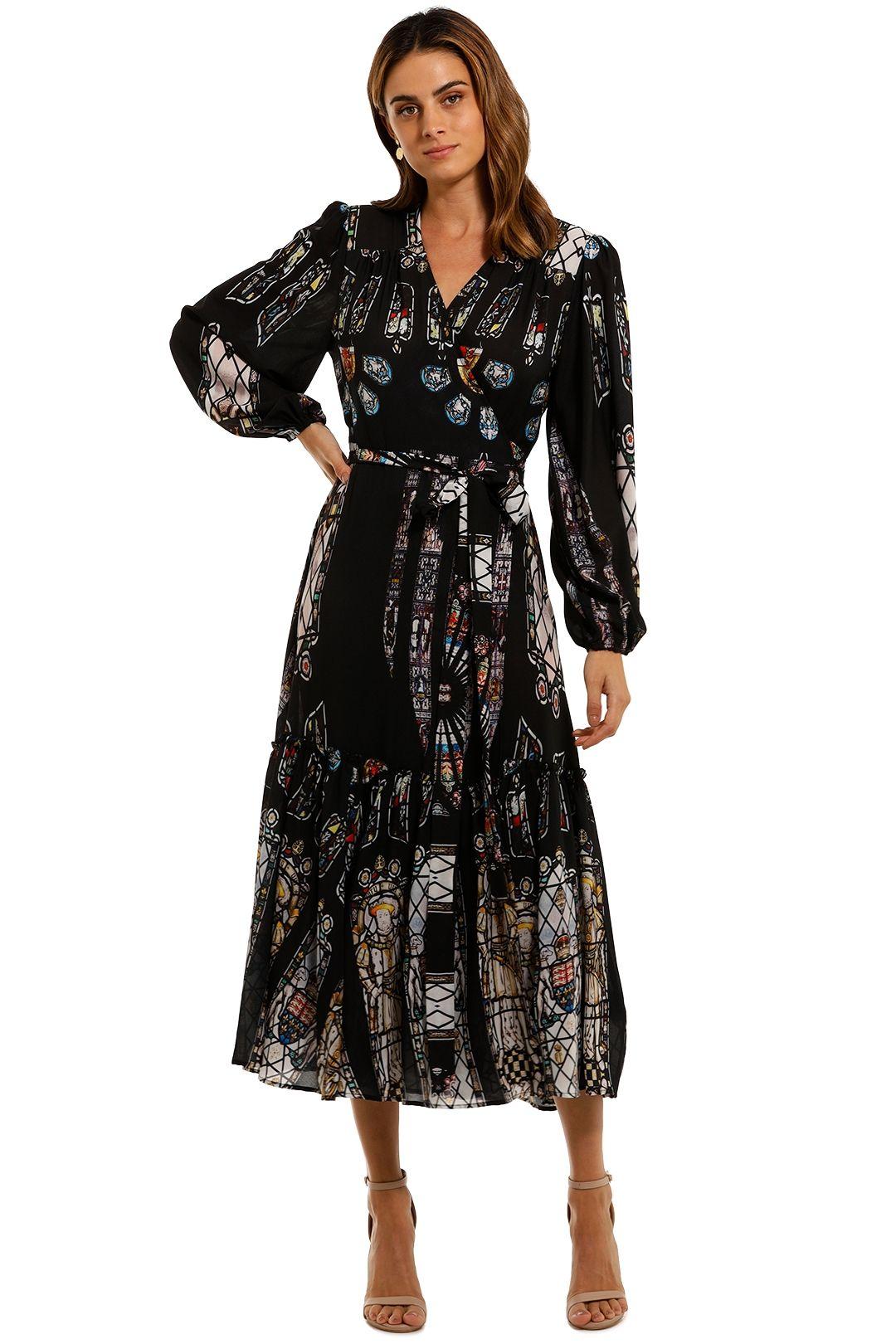 Cooper by Trelise Cooper Wrap Me Up Midi Dress print