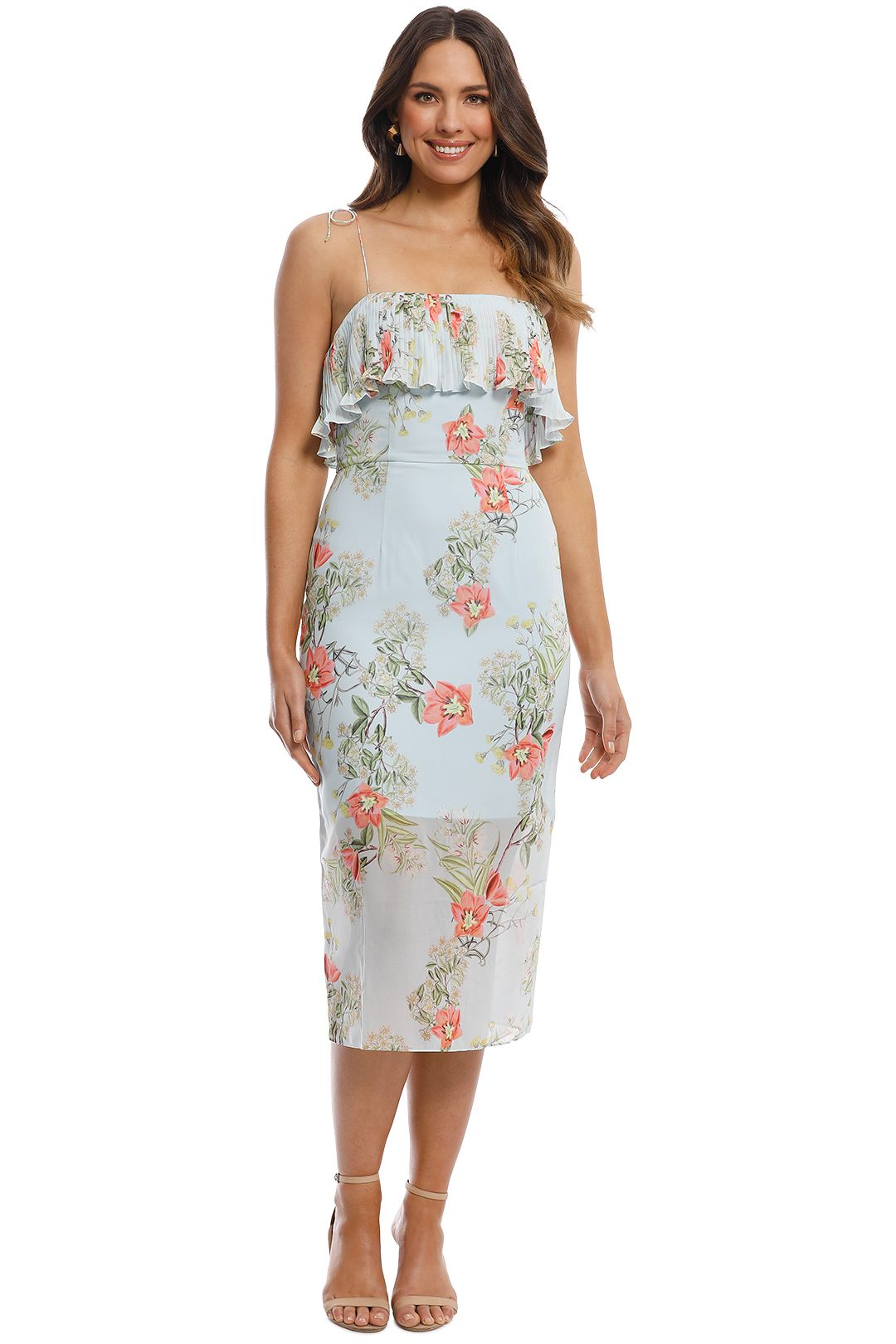 Cooper St - Blooming Knee Length Dress - Print Light - Front