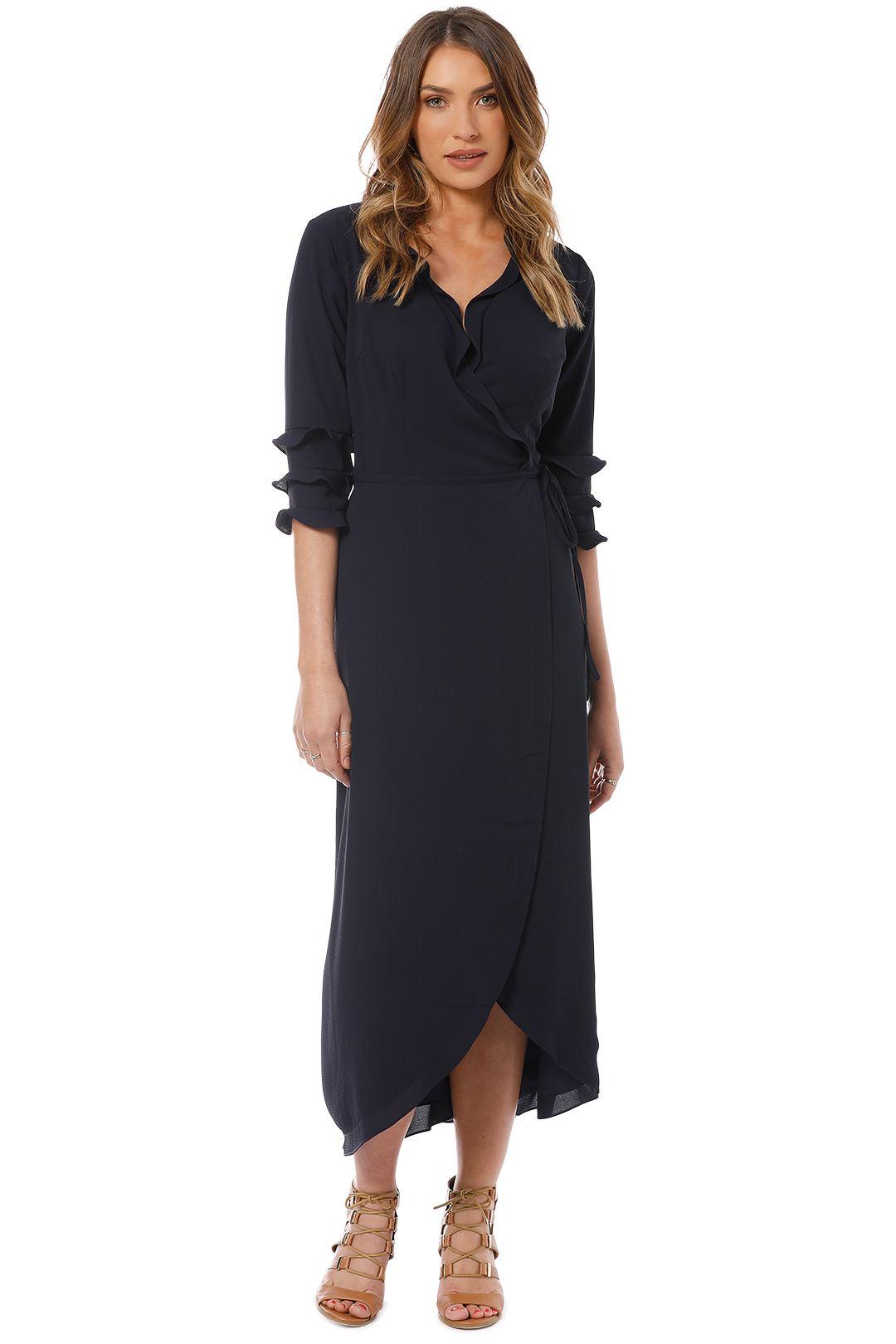 Cooper St - Bridgette Maxi Wrap Dress - Navy - Front