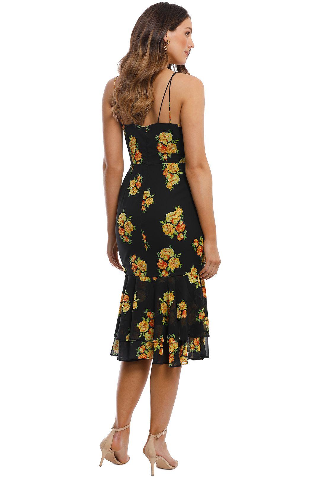 Cooper St - Cinnamon Midi Dress - Print Dark - Back