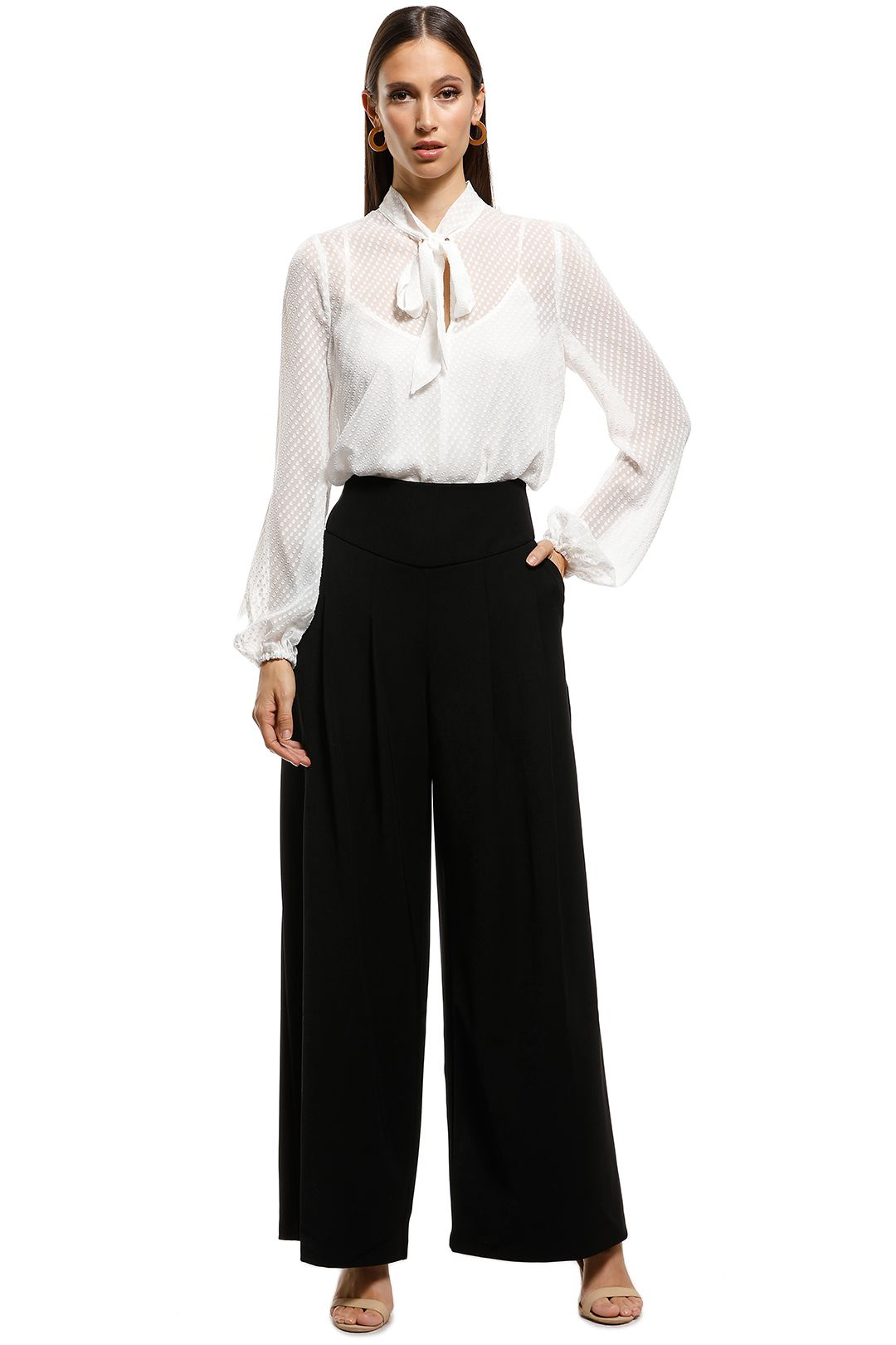 Cooper St - Romeo Flared Pant - Black - Front