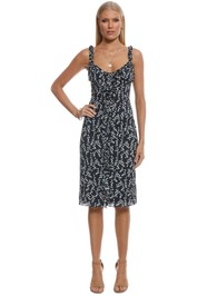 Cooper St - Waterlily Sleeveless Dress - Navy Print - Front