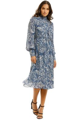 Countr-Road-High-Neck-Dress-Deep-Blue-Front