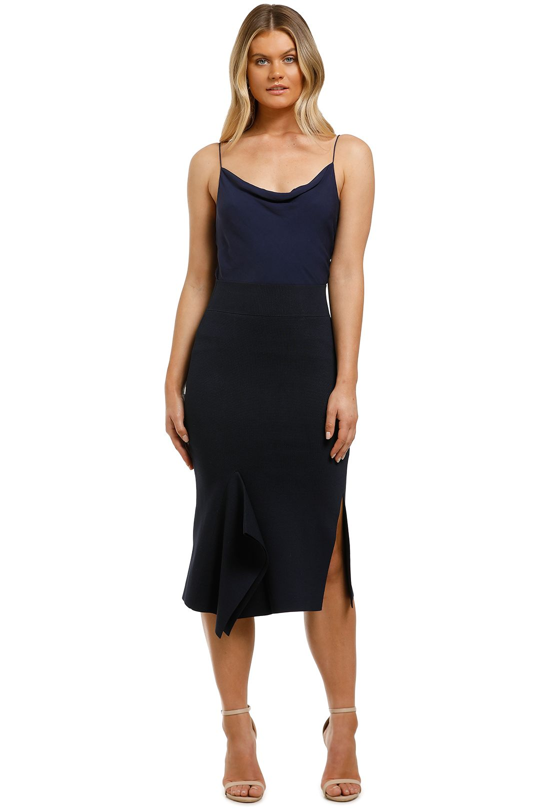 Country-Road-Compact-Knit-Asymmetrical-Skirt-Ink-Front