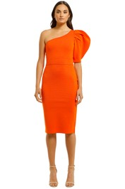 Country-Road-Compact-Knit-One-Shoulder-Dress-Orange-Front