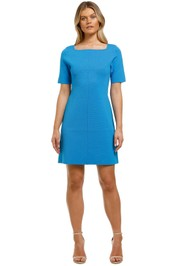Country-Road-Compact-Knit-Short-Sleeve-Dress-Azure-Front