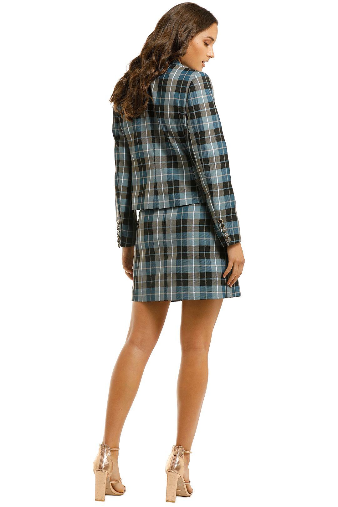 Country-Road-Crop-Check-Blazer-and-Mini-Skirt-Set-Powder-Blue-Back