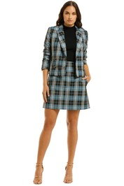 Country-Road-Crop-Check-Blazer-and-Mini-Skirt-Set-Powder-Blue-Front
