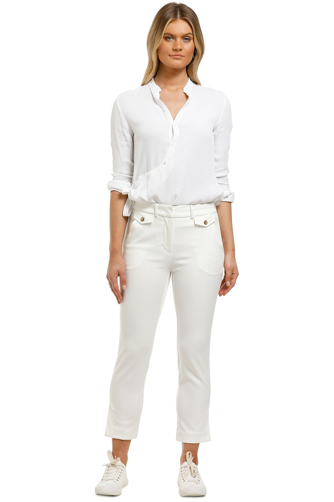 Country-Road-DBL-Cloth-Slim-Pant-Antique-White-Front
